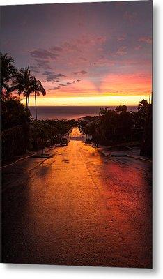 Sunset After Rain Metal Print