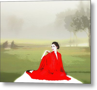 Repose In The Fog Metal Print by Richard Hemingway