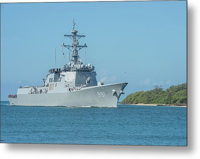 Republic Of Korea Navy Guided-missile Metal Print