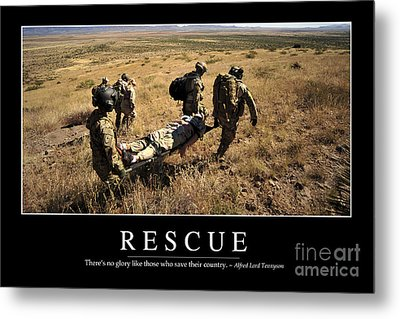 Rescue Inspirational Quote Metal Print by Stocktrek Images