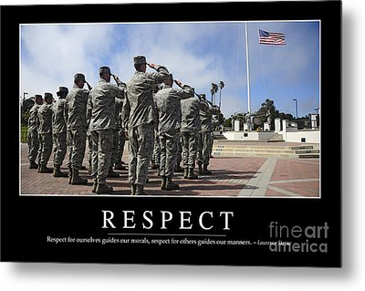 Respect Inspirational Quote Metal Print by Stocktrek Images