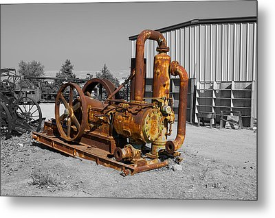 Retired Petroleum Pump Metal Print