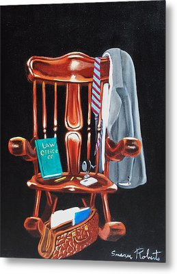 Metal Print featuring the painting Retiring Lawyer by Susan Roberts