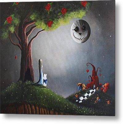 Alice In Wonderland Original Artwork Metal Print by Shawna Erback