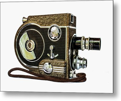 Revere 8 Movie Camera Metal Print
