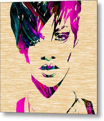 Rhianna Collection Metal Print by Marvin Blaine