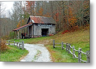 Richland Creek Farm Barn Metal Print