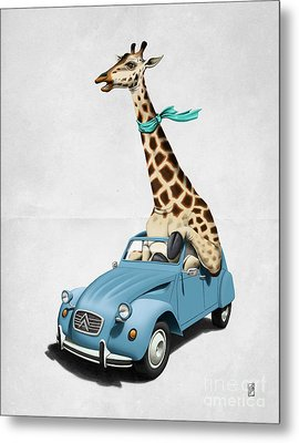 Riding High Wordless Metal Print by Rob Snow