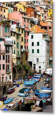 Metal Print featuring the photograph Riomaggiore - Cinque Terre Italy by Carl Amoth