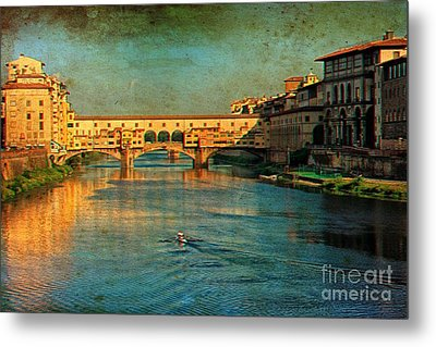 River Arno Metal Print by Nicola Fiscarelli