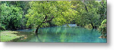 River Flowing Through A Forest, Ozark Metal Print