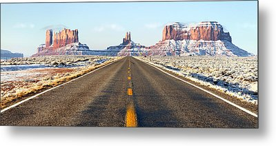 Road Lead Into Monument Valley Metal Print by King Wu