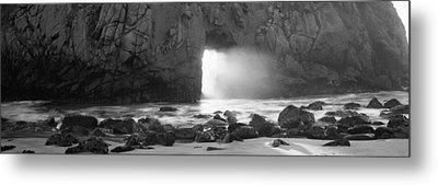 Rock Formation On The Beach, Pfeiffer Metal Print by Panoramic Images