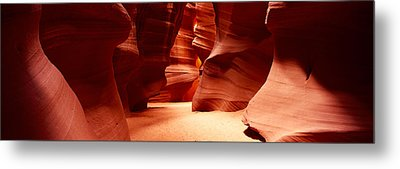 Rock Formations, Antelope Canyon, Lake Metal Print