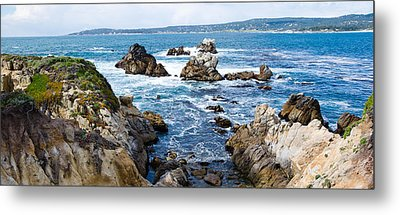 Rock Formations On The Coast, Point Metal Print