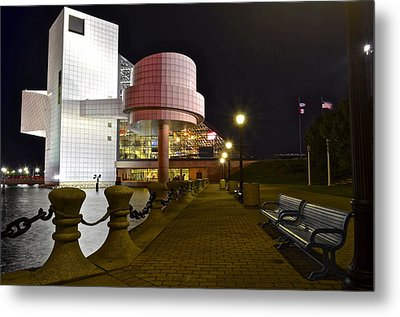 Rock N Roll Hall Of Fame Metal Print by Frozen in Time Fine Art Photography