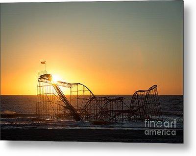 Roller Coaster Sunrise Metal Print by Michael Ver Sprill