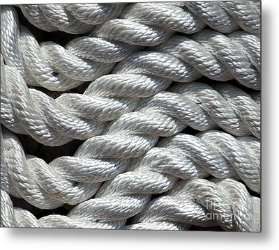 Rope Pattern Metal Print by Yali Shi