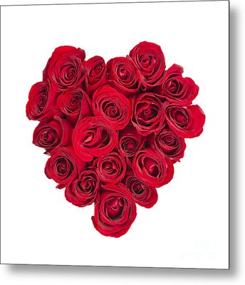 Rose Heart Metal Print