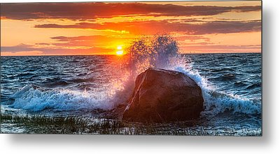 Rough Sea Metal Print by Bill Wakeley
