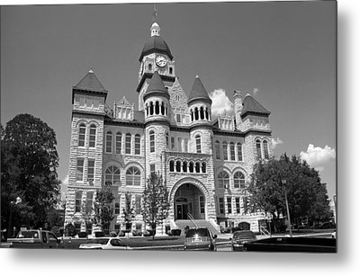 Route 66 - Jasper County Courthouse Metal Print by Frank Romeo