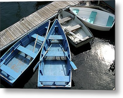 Rowboats 2 Metal Print by Jerry Patterson