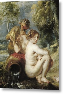 Rubens, Peter Paul 1577-1640. Nymphs Metal Print by Everett