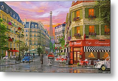 Rue Paris Metal Print