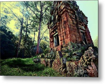 Ruin At Angkor Metal Print