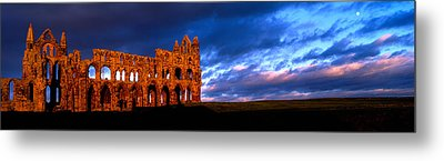 Ruins Of A Church, Whitby Abbey Metal Print by Panoramic Images