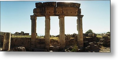 Ruins Of The Roman Town Of Hierapolis Metal Print by Panoramic Images