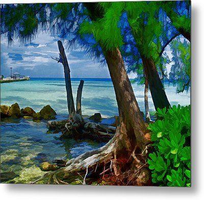 Rum Point Metal Print by Gordon Engebretson