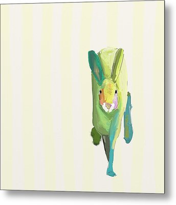 Running Bunny Metal Print by Cathy Walters