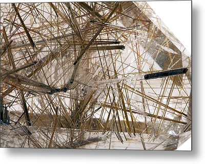 Rutilated Quartz Metal Print by Science Photo Library