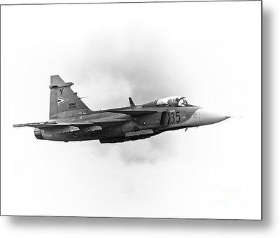 Saab Jas-39 Gripen Metal Print