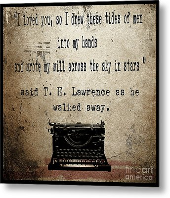 Said T E Lawrence Metal Print by Cinema Photography