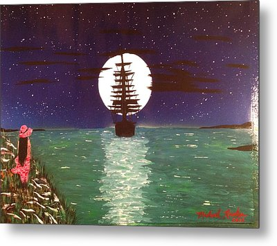 Metal Print featuring the painting Sail Away by Michael Rucker