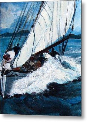 Sailing Metal Print by Betty Pieper