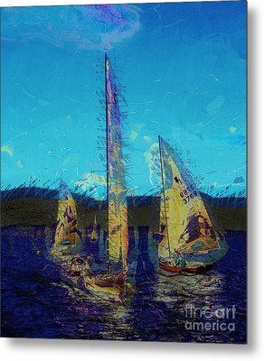 Metal Print featuring the photograph Sailing Day by Julie Lueders