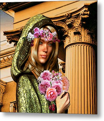 Saint Dorothy Of Caesarea Metal Print