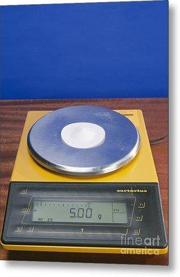 Salt On Scales Metal Print