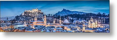Salzburg Winter Romance Metal Print by JR Photography