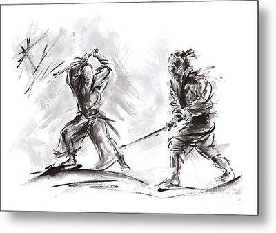 Samurai Fight. Metal Print
