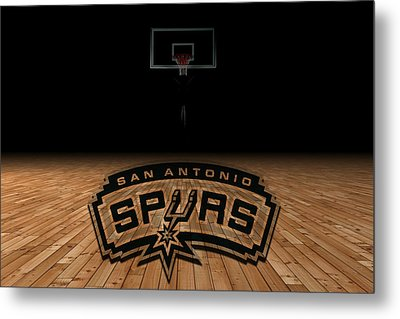 San Antonio Spurs Metal Print by Joe Hamilton