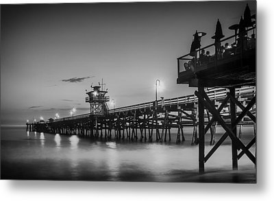 San Clemente Pier At Sunset Metal Print by Pixabay