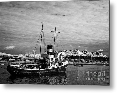 san cristobal saint christopher tugboat wreck in Ushuaia Argentina Metal Print