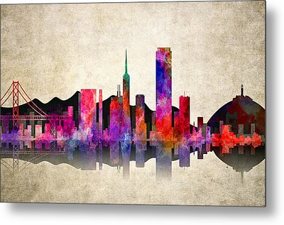San Francisco Skyline Metal Print by Daniel Hagerman