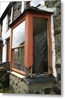 Sash Window Refurbishment Metal Print by Cordelia Molloy