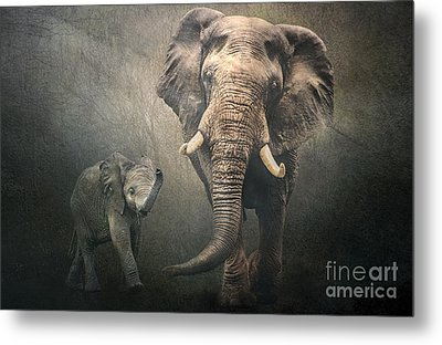 Metal Print featuring the photograph Save The Elephants by Brian Tarr