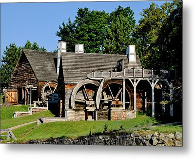 Scenic Iron Works Metal Print